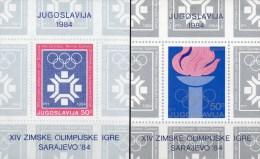 Winter-Olympiade Sarajevo 1984 Feuer Jugoslawien Block 22+24 ** 3€ Ringe Bloque Hoja Bloc Ms Olympic Sheet Bf Yugoslavia - Winter 1984: Sarajevo