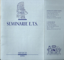 Philip Morris Seminar ETS Mexico 1990 / Travel Guide - Documents