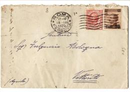 L8,COLLEZIONE STORIA POSTALE,REGNO,LETTERA DA DOMA X VITTORITO NUMERALE AL RETRO, 60 CENT.10 CENT.+ 50 C. SU 40, - 1900-44 Victor Emmanuel III
