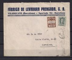 1930 BARCELONA, FÁBRICA DE LEVADURA PRENSADA - VILADECANS, RECARGO EXPOSICIÓN INTERNACIONAL - 1889-1931 Reino: Alfonso XIII