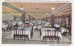 Portion Of Famous Hotel Rosslyn Dining Room 5th And Main Streets Los Angeles California