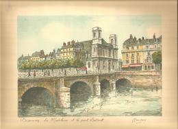 BESANÇON La Madeleine Et Le Pont Battant   Gravure Signée BARDAY 24 Cm X 31 Cm - Stampe & Incisioni