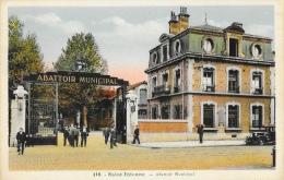 St Saint-Etienne - Abattoir Municipal, Rue Bergson - Edition P. Bastide - Carte Colorisée N° 110 - Saint Etienne