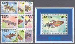 Fish COB 918/26+BL25 MNH - Zaire
