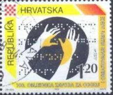 HR 1995-352 BRAILLE LETTER, CROATIA-HRVATSKA, 1 X 1v, Used - Kroatien