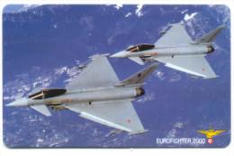 PRATICA DI MARE AERONAUTICA MILITARE EUROFIGHTER 2000 SCHEDA TELECOM 2252 - Italia