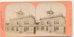 Photographie XIXème Vue Stéréoscopique Exposition Universelle De 1878 Façade Typique Des Etats-Unis Photographe Neurdein - Photos Stéréoscopiques