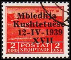 1939. Mbledhja Kushtetuese 12-IV-1939 XVII. 2 QIND.  (Michel: 285) - JF126652 - Albania