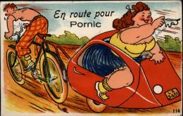 44 - PORNIC - Carte à Système - Carte Dépliant - Grosse Femme - Femme Forte - Pornic