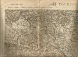 Adelsberg, Suisse, Anni '20, Carta Geografica Touring Club/IGM, Cm. 62 X 44. - Carte Geographique