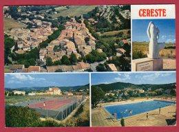 04 CERESTE - Vue Générale Aérienne - Statue De L'Europe - La Piscine - Le Tennis - Frankrijk
