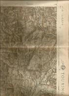 Lubiana, Slovenia, Anni '20, Carta Geografica Touring Club/IGM, Cm. 62 X 44. - Carte Geographique