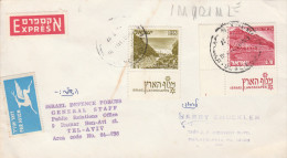 1977 EXPRESS Air Mail COVER ISRAEL DEFENCE FORCES GENERAL STAFF OFFICE  To GB Airmail Military Stamps - Israel