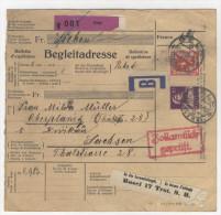 Schweiz Paketkarte Paketbegleitschein 1930