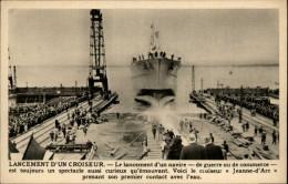 ECOLE - BON POINT - RECOMPENSE SCOLAIRE - Lancement Croiseur Jeanne D'Arc - Vieux Papiers