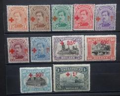 BELGIE   1918   nr. 150 - 160      Scharnier *       CW  150,00