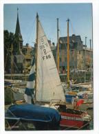 HONFLEUR --1988-- Le Vieux Bassin Et Le Musée (petite Animation,beaux Bateaux),cpm éd La Cigogne--pas Très Courante - Honfleur