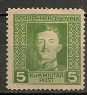 Timbres - Bosnie-Herzegovine - 1917 - 5 H. - - Bosnien-Herzegowina