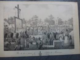 MONTROUGE Pose De La 1ère Pierre De L´église, 1823, TB LITHO  ORIGINALE  ; Ref 348 - Estampes & Gravures
