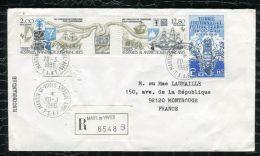 """FRANCE ( TAAF ) : TRES  BEL  AFFRANCHISSEMENT  AVEC  CAD """" MARTIN-DE-VIVIERS-SAINT-P AUL""""  DU 20 MARS 1986 , A VOIR . - Terres Australes Et Antarctiques Françaises (TAAF)"""