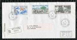 "FRANCE ( TAAF ) : TRES  BEL  AFFRANCHISSEMENT  AVEC  CAD "" MARTIN-DE-VIVIERS-SAINT-P AUL""  DU 14 FEVRIER 1990 , A VOIR . - French Southern And Antarctic Territories (TAAF)"