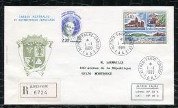 "FRANCE ( TAAF ) : TRES  BEL  AFFRANCHISSEMENT  AVEC  CAD "" ALFRED-FAURE-CROZET ""  DU 1 JANVIER 1989 , A VOIR . - Terres Australes Et Antarctiques Françaises (TAAF)"