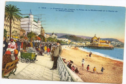 § PROMO § 06 - NICE La Promenade Des Anglais Animée Colorisée écrite Timbrée - Niza
