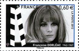 YT4690 FRANCE An.2012 Acteurs Du Cinéma - Françoise Dorléac (1942-1967) Provenance Feuillet - Francia