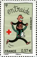 YT4700 FRANCE An.2012 Croix-Rouge : Entraide Provenance Feuillet - Francia