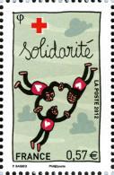 YT4702 FRANCE An.2012 Croix-Rouge : Solidarité Provenance Feuillet - Francia