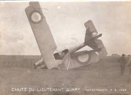 PHOTO AVIATION AVION CHUTE ACCIDENT ARMEE AIR PILOTE LIEUTENANT GUARY 1924 WACKERNHEIM