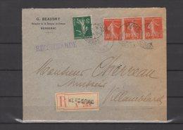 24 - Bergerac - G. Beaudry - Huissier De La Banque De France - Sur Lettre Recommandée - 1912 - Postmark Collection (Covers)