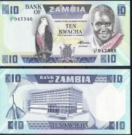 ZAMBIA 1986  10 KWACHA  NUEVO SIN CIRCULAR UNCIRCULATED.PICK Nº 26e   VER FOTO.B 093 - Zambia
