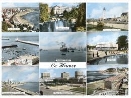 (555 DEL)  France - Le Havre And Paquebot France (milieu De La Carte) - Passagiersschepen
