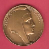 FRANCE   50 MM ART NOUVEAU BRONZE MEDAL---MARIANNE---SCARCE - Unclassified