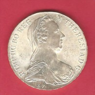 AUSTRIA   1780  SILVER THALER PROOF---OFFICIAL RESTRIKE - Austria