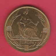 EUROPEAN COMMUNITY   1980  ECU BRONZE ESSAY - Tokens & Medals