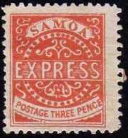 Samoa 1877 Y&T 2, 3 P Rouge. Neuf Sans Gomme. Cote 70 € - Samoa (Staat)