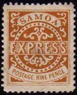 Samoa 1877 Y&T 4,  9 P Jaune-brun. Neuf Sans Gomme. Cote 90 € - Samoa