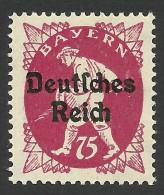 Bavaria, Germany, 75 P. 1920, Sc # 264, Mi # 127, MH - Bavaria