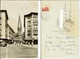 Bonn: Blick In Die Gangolfstrasse. Postcard B/w Cm 9x14 Travelled 1955 (lebhaft, Auto) - Bonn