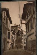 Carte Sépia LA DOUCE FRANCE  25  COTE BASQUE  St.JEAN.de.LUZ  (Basses.Pyrénées) Une Vieille Rue De Ciboure - Saint Jean De Luz