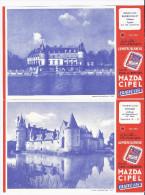 BUVARD Piles MAZDA CIPEL Lumière Blanche Chateau Du Plessis Bourré ECUILLE 49 Maine Et Loire Et RAIMBOUILLET - Papel Secante