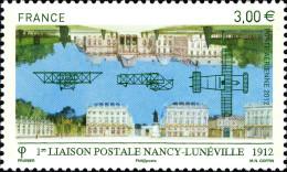 YTPA75 FRANCE An.2012 Poste Aérienne Première Liaison Postale Entre Nancy Et Lunéville - Francia