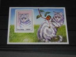 Tanzania - 1996 Cats (I) Block MNH__(TH-14261) - Tanzania (1964-...)