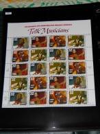 USA - 1998 Folk Musicians Sheet MNH__(FIL-7351) - United States