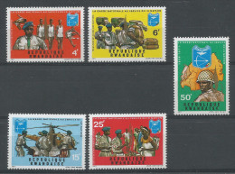 TP DE LA REPUBLIQUE RWANDAISE N� 438 � 442 NEUFS SANS CHARNIERE