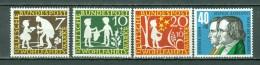 BRD 1959  Mi. 322/325**, Yv. 195/198**  Wohlfahrtsmarke