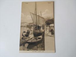 AK 1909 Österreich / Italien Grado. Gradez. Der Hafen, Ji Porto, Luka. Kleines Segelboot. Fischer - Italy