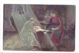 11380 -  Alom Traum Père Devant Berceau Femme Lisant - Hongrie